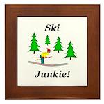 Ski Junkie Framed Tile