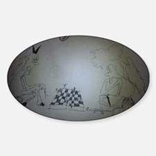 chess game drawing funny Decal