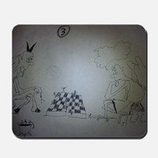 chess game drawing funny Mousepad