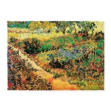 Flowering Garden with Path by Vince 5'x7'Area Rug