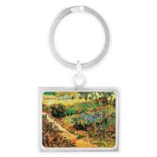 Flowering Garden with Path by V Landscape Keychain