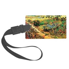 Flowering Garden with Path by Vi Luggage Tag