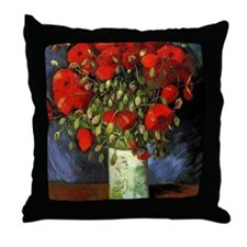Red Poppy, Vincent van Gogh Throw Pillow