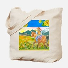Sunflower Ride Tote Bag