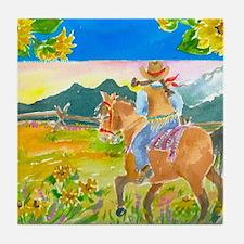 Sunflower Ride Tile Coaster
