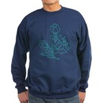 Teal Batik Flower Sweatshirt (dark)