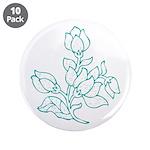Teal Batik Flower 3.5