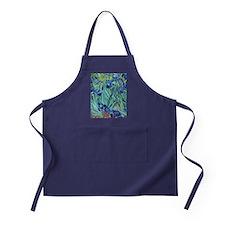 Iris, Vincent van Gogh. Vintage flora Apron (dark)