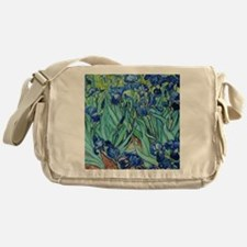 Iris, Vincent van Gogh. Vintage flor Messenger Bag