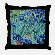 Iris, Vincent van Gogh. Vintage flora Throw Pillow