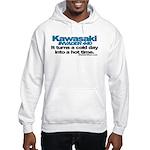 Cold Day - Hot Time - Kawasak Hooded Sweatshirt