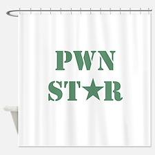 Pwn Star Shower Curtain