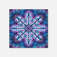 "Blue Star Square Sticker 3"" x 3"""