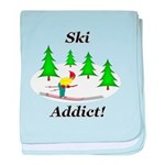 Ski Addict baby blanket