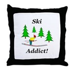 Ski Addict Throw Pillow