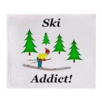 Ski Addict Throw Blanket