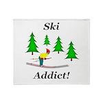 Ski Addict Throw Blanket