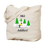 Ski Addict Tote Bag