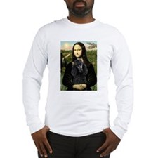 Mona & her Black Poodle Long Sleeve T-Shirt