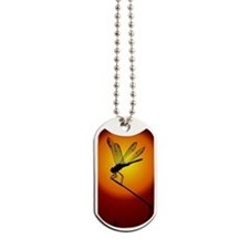 Sunset Dragonfly Dog Tags