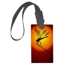 Sunset Dragonfly Luggage Tag
