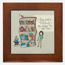 The Book Lover Framed Tile