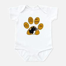 border collie walks Infant Bodysuit
