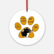 border collie walks Ornament (Round)