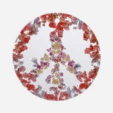 Flower Peace - Attraction 1 Ornament (Round)