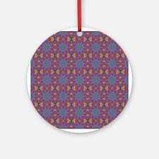 Retro Pattern 12 Ornament (Round)
