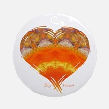 Big Heart Summer Mandala Ornament (Round)