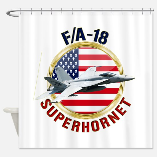 F/A-18 Hornet Shower Curtain