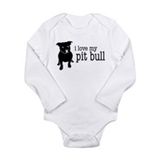 Love My Pit Bull (Natural Ears) Body Suit