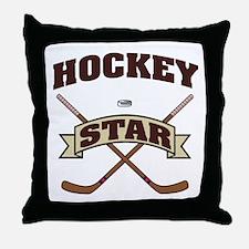 Hockey Star Throw Pillow