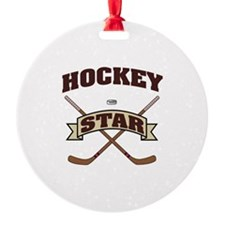 Hockey Star Ornament