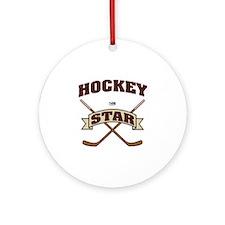 Hockey Star Ornament (Round)