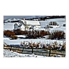 Park City Barn in Winter Postcards (Package of 8)