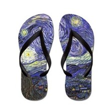 Starry Night by Vincent van Gogh Flip Flops