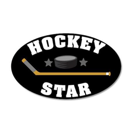 Hockey Star 35x21 Oval Wall Decal
