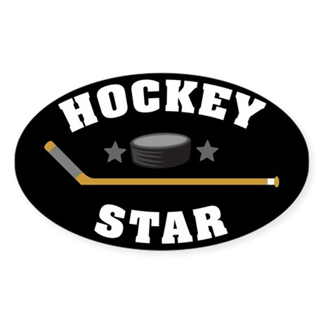 Hockey Star Sticker (Oval)