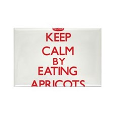 Keep calm by eating Apricots Magnets