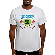 Hockey Player Number 51 T-Shirt