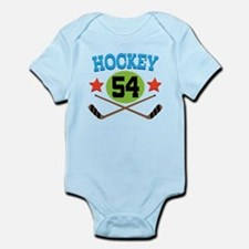 Hockey Player Number 54 Infant Bodysuit