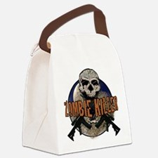 Tactical zombie killer Canvas Lunch Bag