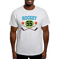 Hockey Player Number 55 T-Shirt