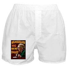 HILLARY BENGHAZI FAULT Boxer Shorts