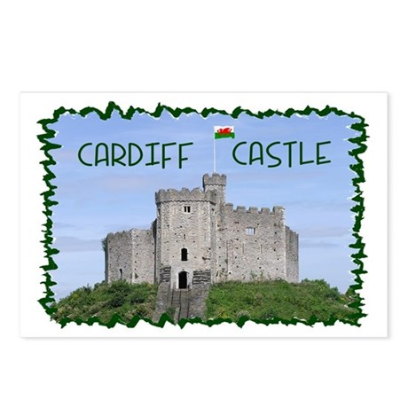 ...Cardiff Castle... Postcards (Package of 8)