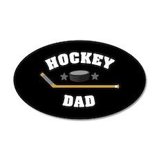Hockey Dad 35x21 Oval Wall Decal