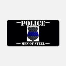 Police Diamond Plate Badge Aluminum License Plate