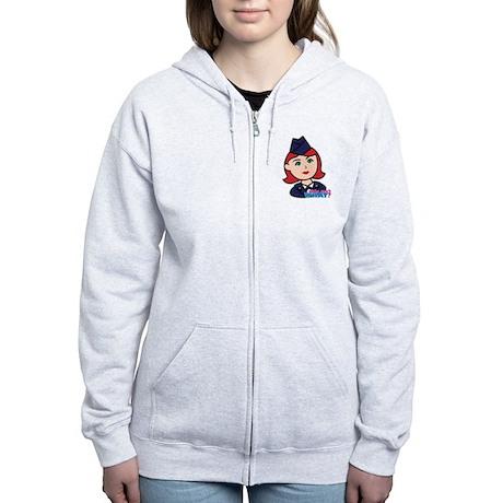 Air Force Head Red Women's Zip Hoodie